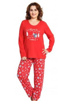 Pijama xxl dama Sweet Love rosu