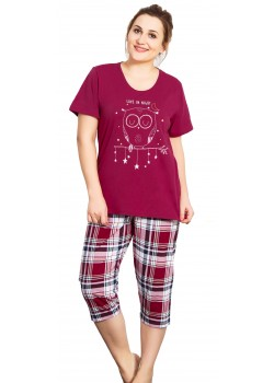 Pijama capri xxl dama Love in Night