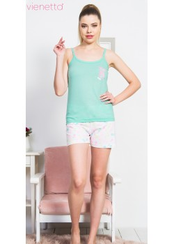 Pijama short dama PineApple