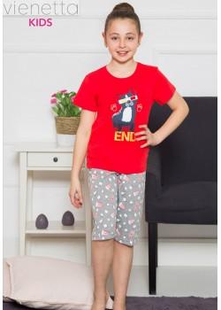 Pijama capri fetite marimi mari Movie Time