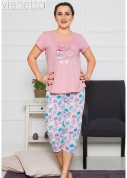 Pijama capri dama marimi mari Perfect Day