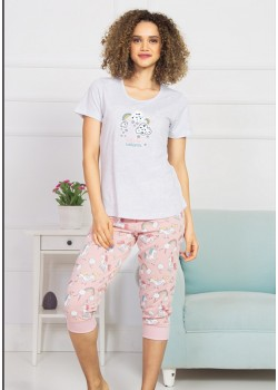 Pijama capri dama Let s be Unicorn