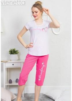 Pijama capri dama Think Pink