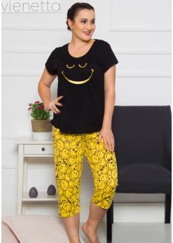 Pijama capri dama marimi mari Smile