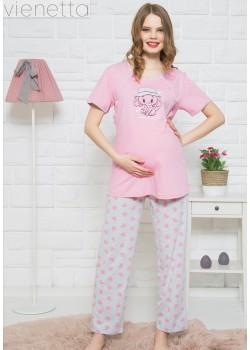 Pijama pentru mamici si gravide Hello Dear