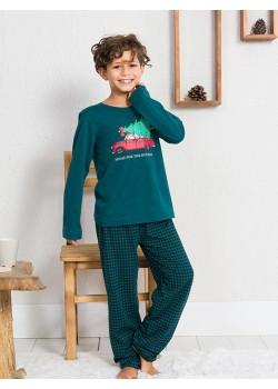 Pijama copii baieti Home for the Holidays