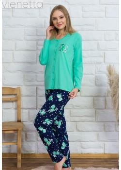 Pijama cu nasturi dama Lemon Girl