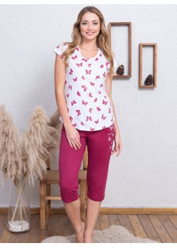 Pijama capri dama Butterfly