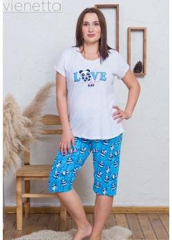 Pijama capri marimi mari Lovely Panda