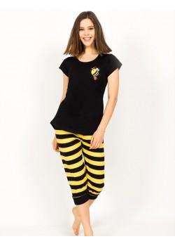 Pijama capri dama Bee Lovely