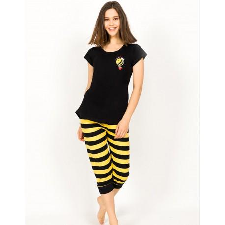 Pijama capri dama Bee Happy