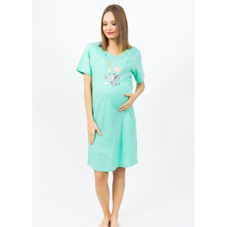 Camasa de noapte pentru mamici si gravide Hello Baby