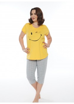 Pijama capri marimi mari Smile Today