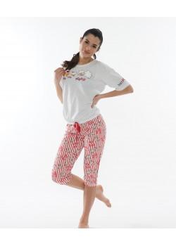 Pijama capri dama Just Poppin