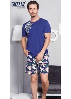 Pijama short barbati marimi mari Camouflage