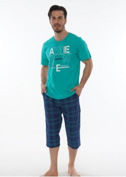 Pijama capri barbati marimi mari Awesome