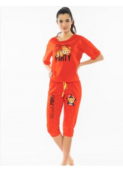 Pijama capri dama Let's Make Party