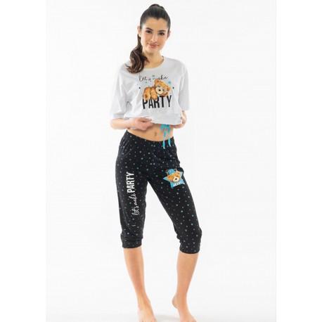 Pijama capri dama Let's Make Party