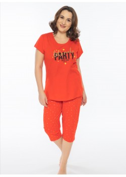 Pijama capri dama marimi mari Let's make Party