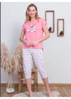 Pijama capri dama Coffee Time