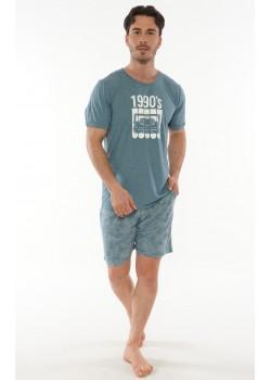 Pijama short barbati Retro
