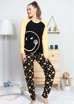 Pijama dama Smiley Face