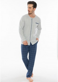Pijama cu nasturi barbati Vision