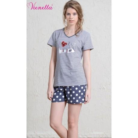 Pijama short dama I love Dogs